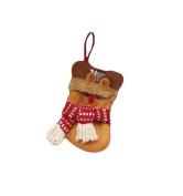 Vivian Christmas Xmas Gift Bag Hanging Decor Cute Santa Claus Snowman Elk Socks