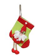 Vivian Christmas Socks Santa Claus Snowman Elk Xmas Tree Hanging Ornament Decoration Christmas Candy Gift Bags