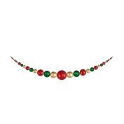 Christmas by Krebs CBK55007 Sonic Red / Gilded Gold / Blarney 3.5m Shatterproof Hanging Garland