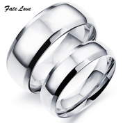 Cherryn Jewellery Classic Stainless Steel Wedding Ring High Polished Ring for Couple Wedding Ring Engagement Ring FL479B