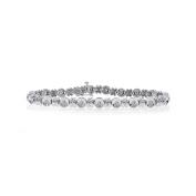 1.20 Carat Diamond Bezel Tennis Bracelet 14K White Gold