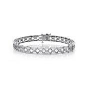 0.75 Carat Diamond Woven Bracelet 14K White Gold