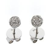 Diamond Stud, 14kt White gold Diamond Stud Ball Earring, 0.20 TCW