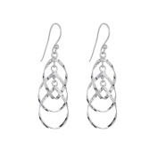 Annaleece Dylan Sterling Silver Hook Earrings