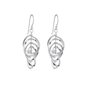 Annaleece Gabriela Sterling Silver Hook Earrings