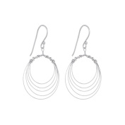 Annaleece Charlotte Sterling Silver Hook Earrings