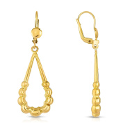 MCS Jewellery 10 Karat Yellow Gold Leverback Drop Dangling Earrings (Length