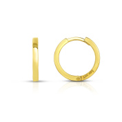 MCS Jewellery 14 Karat Yellow Gold Huggie Hoop Earrings (Diameter
