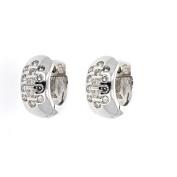 Diamond Huggie, 14kt White gold Diamond Huggie Earring