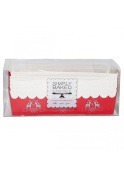 Simply Baked Paper Loaf Pan Gift Set, (6-Red pans, knives, bags & twine), Holiday Themed, Great for Gift Giving, Disposable, Oven & Freezer Safe