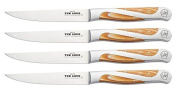 Hammer Stahl 12 Piece Petite Steak Knife Set with White Box/Mesquite Handle, Small