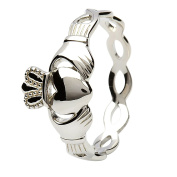 Women's Sterling Silver Claddagh Ring with Infinity Band - Made in Ireland