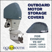 Oceansouth Custom Fit Storage Covers for Evinrude V6 2.6L 150HP, 200HP, 135 H.O, 150 H.O