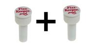 Jokari Fizz Keeper Pump Cap 2 Litre/Lt Soda Pop Bottles Saves Carbonation 2-Pack