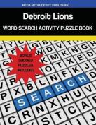 Detroit Lions Word Search Activity Puzzle Book