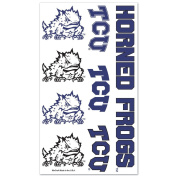 TCU Horned Frogs Official NCAA 10cm x 18cm Temporary Tattoos by Wincraft