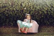 Fantasy Furniture Roundy Rocking Chair - Lavender Gingham