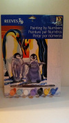 Penguin paint by numbers activity kit