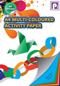 A4 Multi Coloured Paper Activity Drawing Notepad - 80 Sheets - by Pennine