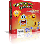 Whatcha Sayin - Hysterical New Mouthguard Challenge Game - 210 Cards - Speak Out Loud With 10 Cheek Retractors - 30s Timer