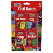 Childrens Card Games - Pack of 4