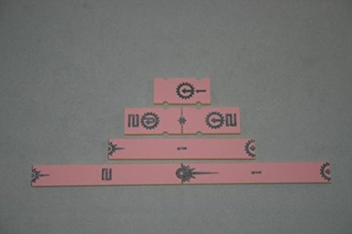 Cog O Two X-Wing Miniatures Accessory Short Range Rulers Pink x4 Cog O Two