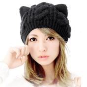 Cap ,BeautyVan Fashion Cat Ears Hemp Flowers Knitted Hat