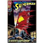 Silver Buffalo SP7536DC Comics Death of Superman No.75 Wood Wall Art Plaque, 33cm by 48cm