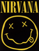 Licences Products Nirvana Square Smiley Logo Sticker