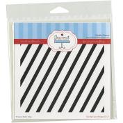 Gourmet Rubber Stamps Diagonal Stripes Stencil, 15cm x 15cm