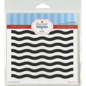 Gourmet Rubber Stamps Waves Stencil, 15cm x 15cm
