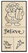 Stampendous Santa Believe Rubber Stamp Set