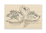 Stampendous Swan Pair Rubber Stamp