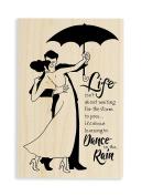 Stampendous Rain Dance Rubber Stamp