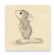 """Stampendous Wooden Handle Rubber Stamp, """"Hopeful Mouse"""""""