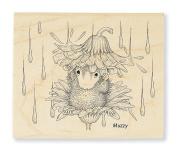 Stampendous Rain Flower Rubber Stamp