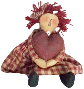Craft Outlet Fabric Ann with Heart Doll, 37cm