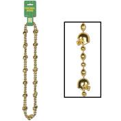 Football Beads (gold) (2/Card)
