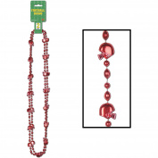 Football Beads (red) (2/Card)