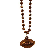 Creative Converting Sports Fanatic Football Beads with Ball Medallion, 3-Pack