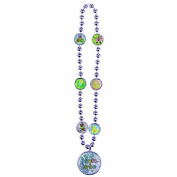 Amscan Delightful Bead Necklace Baby Shower Party Novelty Favours, 50cm x 7.6cm , Blue