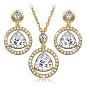 """LadyColour """"Eternal Light"""" Pendant Necklace and Earrings Jewellery Set, Made With Crystals"""