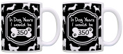 50th Birthday Gifts for All In Dog Years I Would Be 350 2 Pack Gift Coffee Mugs Tea Cups Black