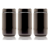 Infinity Jars 400 ml (13.53 fl oz) 3-Pack Black Ultraviolet Refillable Empty Glass Screw Top Jar