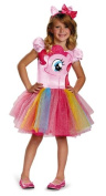 Disguise Hasbro's My Little Pony Pinkie Pie Tutu Prestige Girls Costume, X-Small/3T-4T