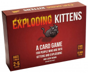 Card Boy Exploding Kittens Card Game About Kittens and Explosions and Sometimes Goats, Funny Game Cards Suitable for Parties 2-5 Players, Original PG Edition of Exploding Kittens