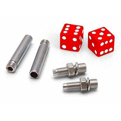 Vintage Parts 197 Plate Bolt Combo Kit (Red Dice 2 Valve Cap, Door Plunger, Plate Bolt Combo Kit)