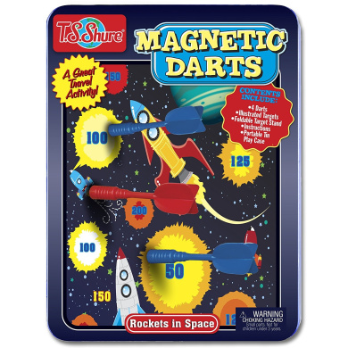 Rockets in Space Magnetic Dart Game