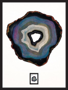 Imperial Mint 081304SS02 Agate (B) Framed Wall Art with Postage Stamp