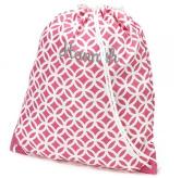 aBaby Pink Sadie Gym Bag, Name